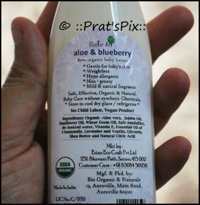 Organic Baby Lotion by Rustic Art {Product Review}