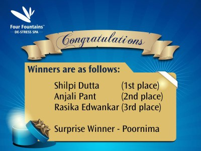 Four Fountains Spa – Contest Winners