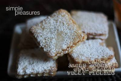Vanilla Sables with Orange jelly