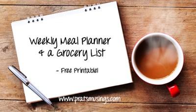Weekly Menu Planner – Free Printable