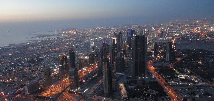 Aerial view Dubai