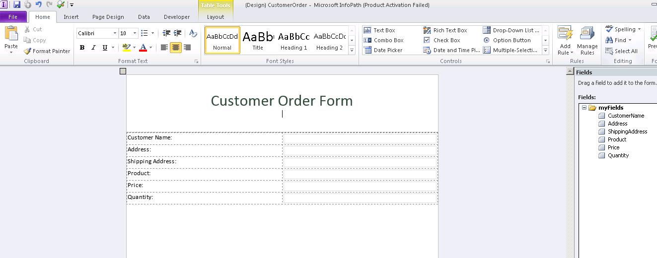 Create InfoPath Form Programatically c#