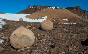 esferas gigantes, rusia, isla champ, artico, piedras gigantes esfericas, fenomeno natural, investigaciones, esferas en varias partes del mundo, civilizaciones avanzadas