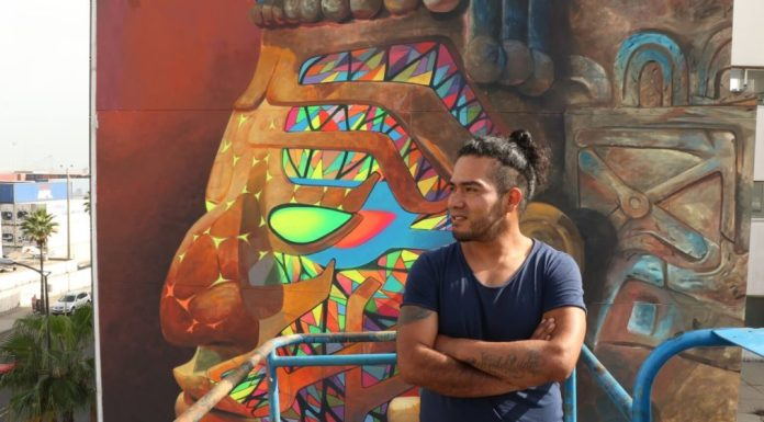 Cix, artista, mural