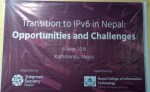 IPv6 day celebrated: Transition to IPv6 in Nepal opportunities and challenges.