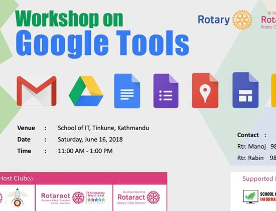 Workshop on Google Tools to held on June 16