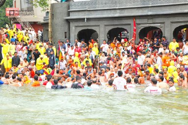 SADHUS AND DEVOTEES AT RAMKUNDA