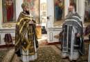 Секретарь епархии возглавил соборное служение литургии Преждеосвященных Даров