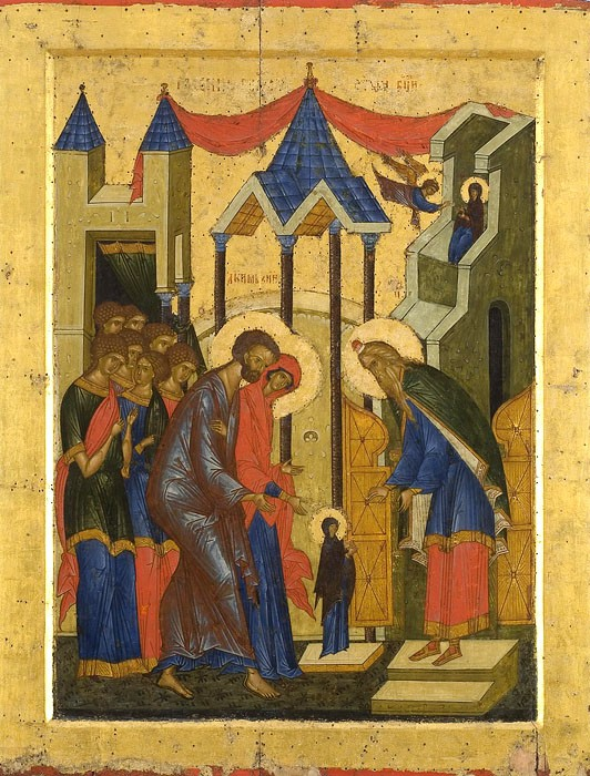 Entrance into the temple of the Most Holy Theotokos. St. Cyril of White Lake Monastery, historical-architectural and art museum, 15th century