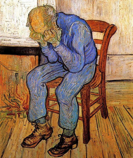 Старик в печали. На пороге Вечности. Художник: Ван Гог Винсент. 1890
