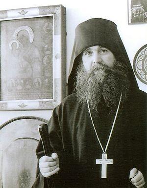 Ο Εφραίμ (Μωραΐτης), όταν ήταν καθηγούμενος της Ι. Μ. Φιλοθέου