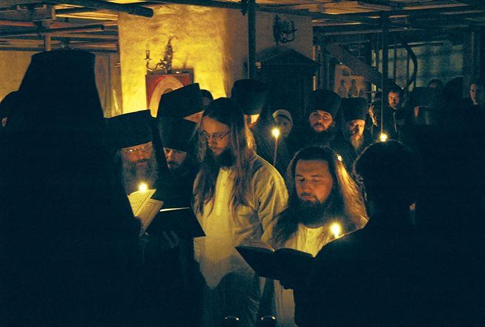 Постриг в монашество отцов Серафима и Николая