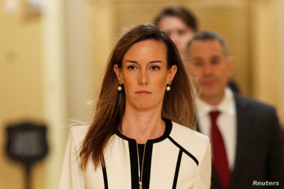 FILE PHOTO: Jennifer Williams, special adviser for Europe and Russia in the Office of U.S. Vice President Mike Pence arrives on…