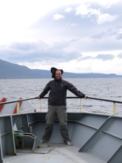 Jove tries to avoid being blown overboard