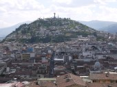 The virgin of Quito statue which stands on a hill overlooking the city. We were put off going any closer by the teachers at our school who said the only safe way to get there is in a taxi. Yep, even religious monuments aren't free from crime here