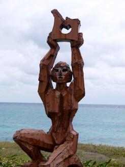 Outdoor sculpture, Punta Sur Cancun