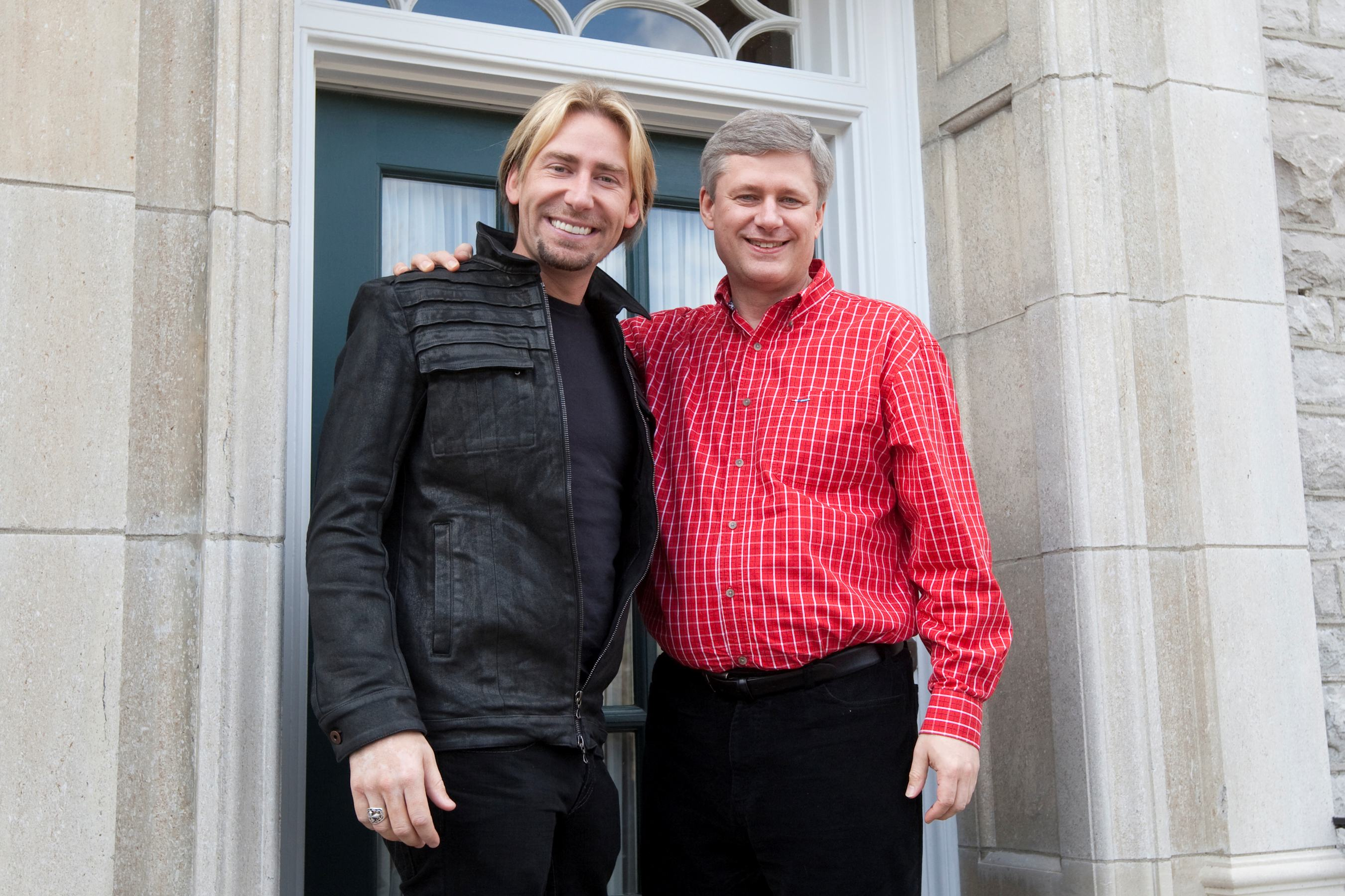 Stephen Harper and Chad Kroeger