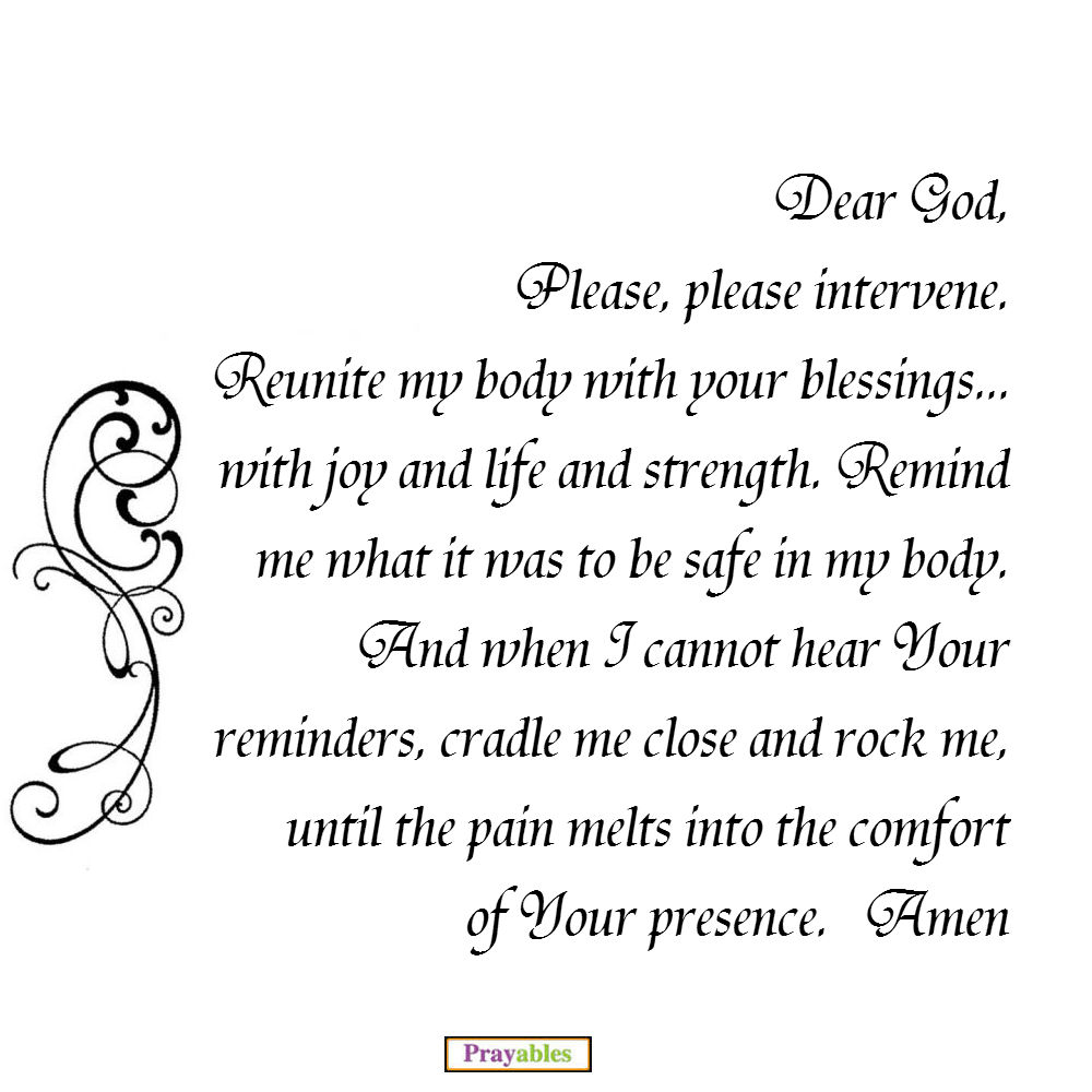 prayers for healing of