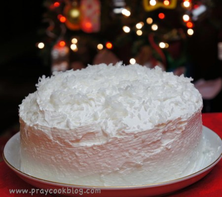 Christmas cocont cake