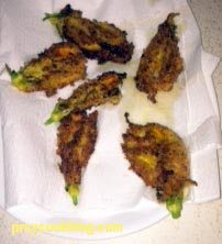 Fried Zucchni flowersphoto