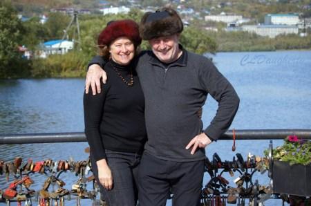 Chris and Georgina Russian Hats