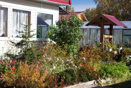 dacha and gardens