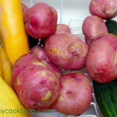 Cucumbers, Squash, Red Potatoes