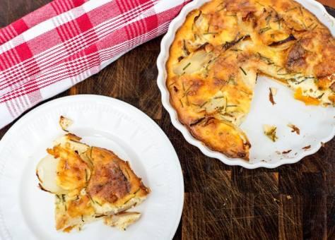Butternut, Potato and Onion Quiche, The Orgasmic Chef