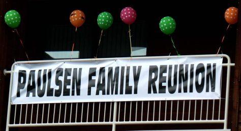 Paulsen Family Reunion Sign
