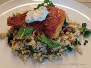 Sumac salmon plated