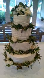 Abby cake with greenery