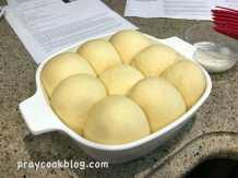 Japanese milk bread rising buns
