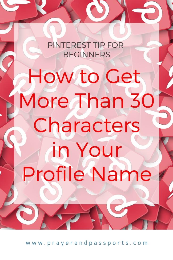 Pinterest Profile Name