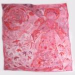 "Hildegard at Dawn copyright Anne Camozzi 30"" x 30"" on silk."