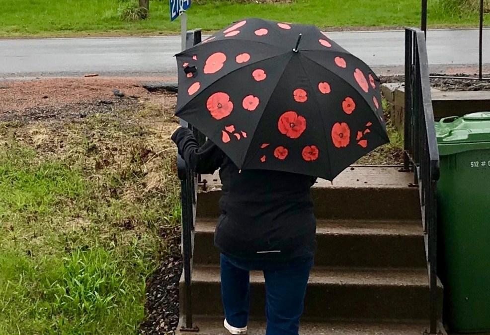 Deciding to Stroll in the Rain