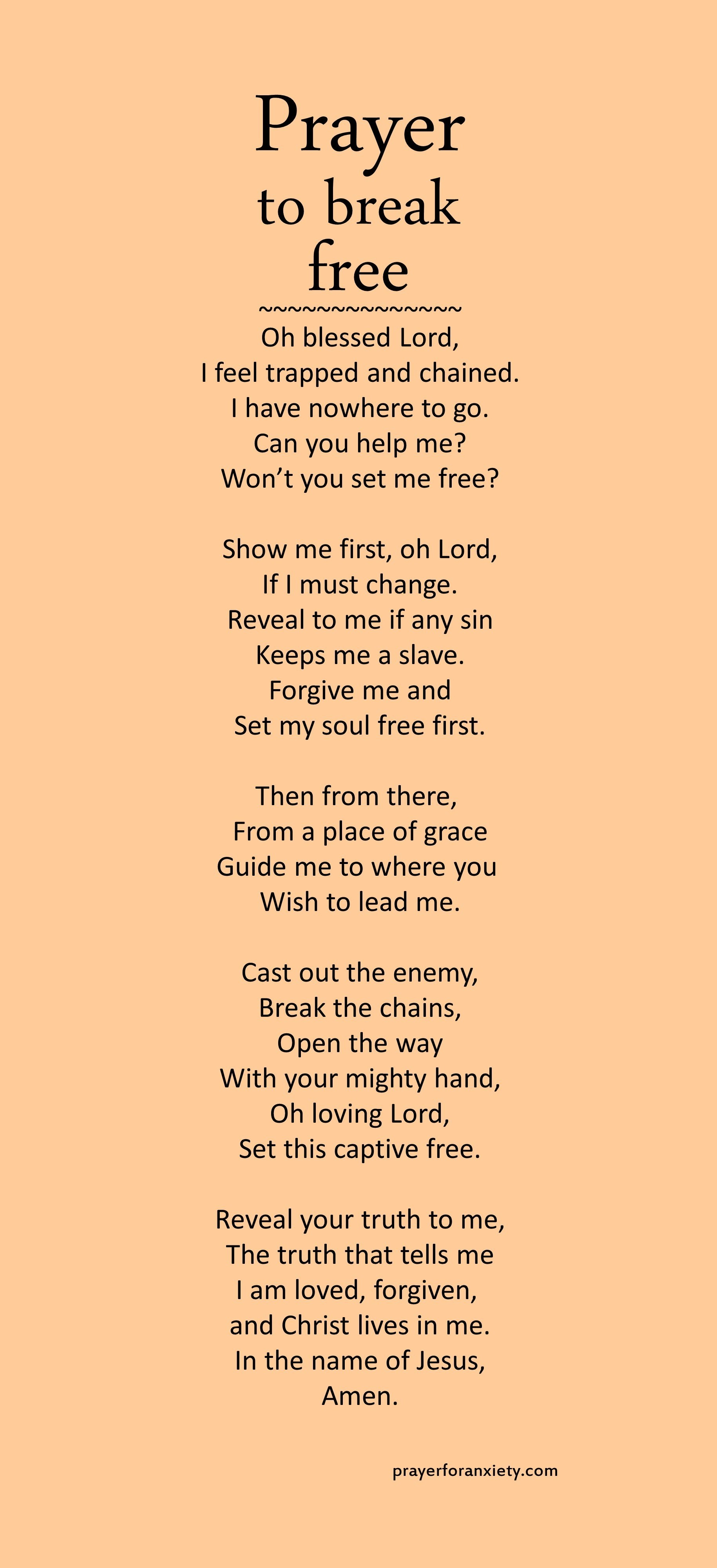 Prayer To Break Free