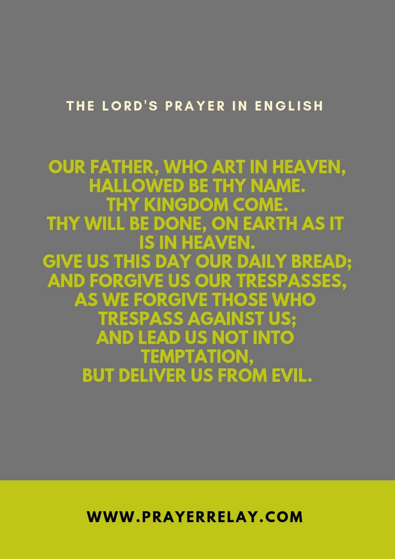 THE LORD'S PRAYER IN ENGLISH