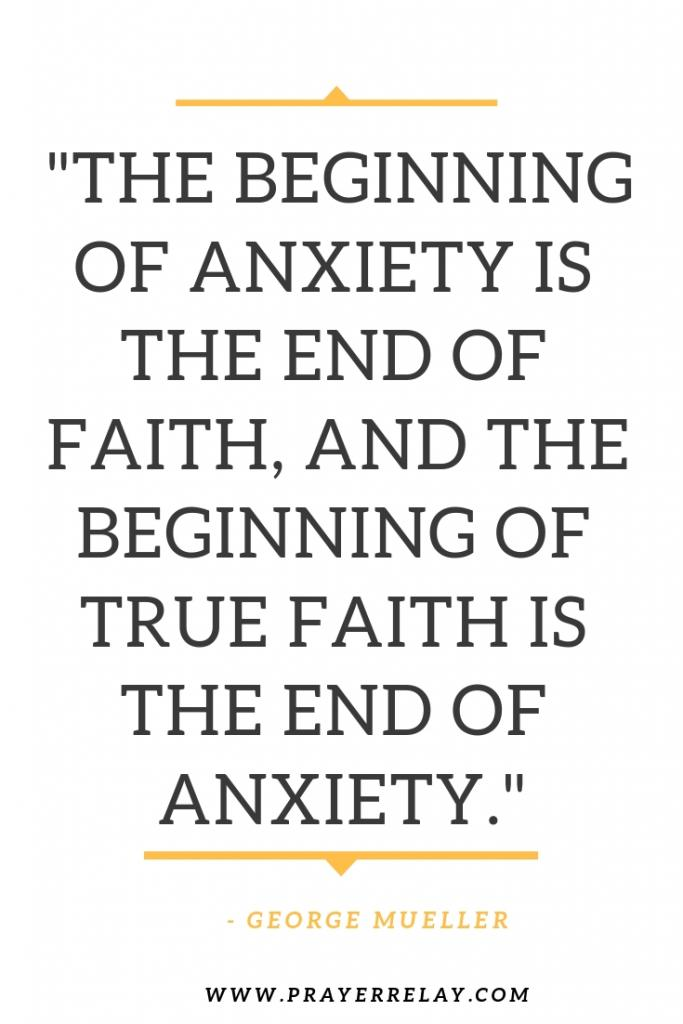 the beginning of anxiety is the end of faith