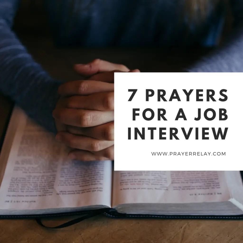 7 Prayer For A Job Interview