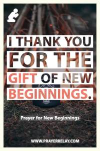 Prayer for New Beginnings