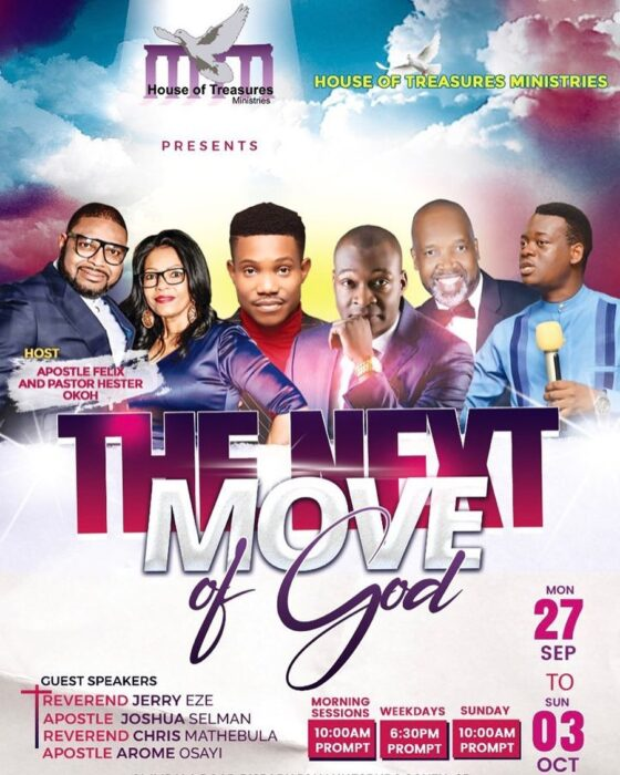 The Next Move Of God - House of Treasures Ministries