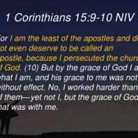 PFTW: 1 Corinthians 15:9-10