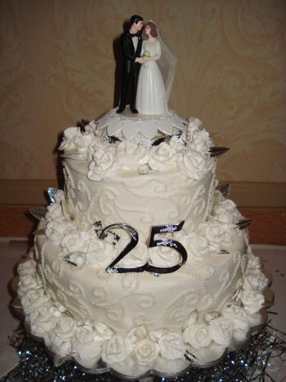 25th Wedding Anniversary Cake Ideas Wedding Cake