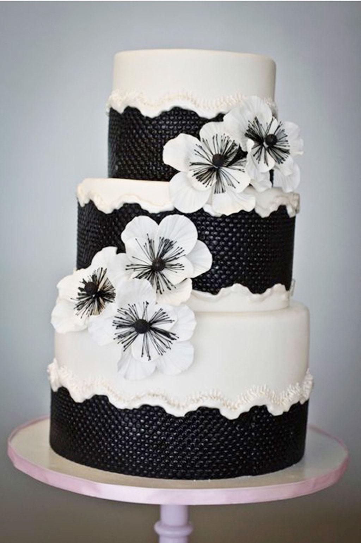 Black And White Wedding Cake Design Wedding Cake