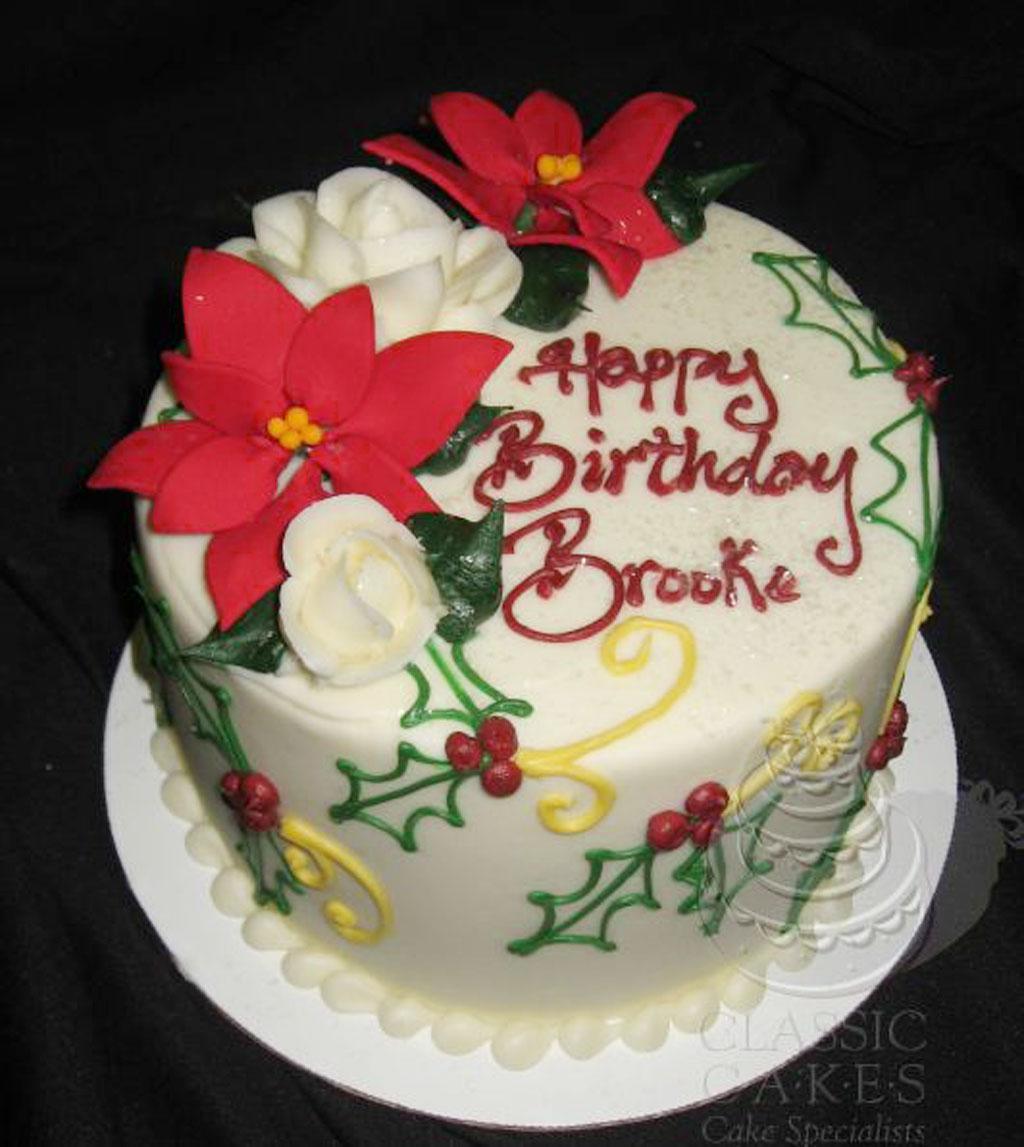 Custom Christmas Birthday Cakes Birthday Cake