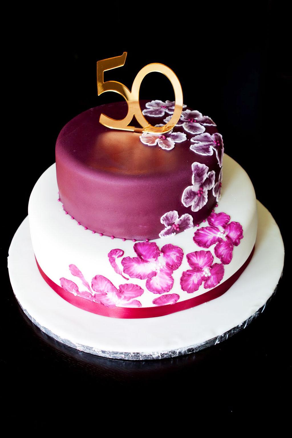 Elegant 50th Birthday Cake Ideas Birthday Cake