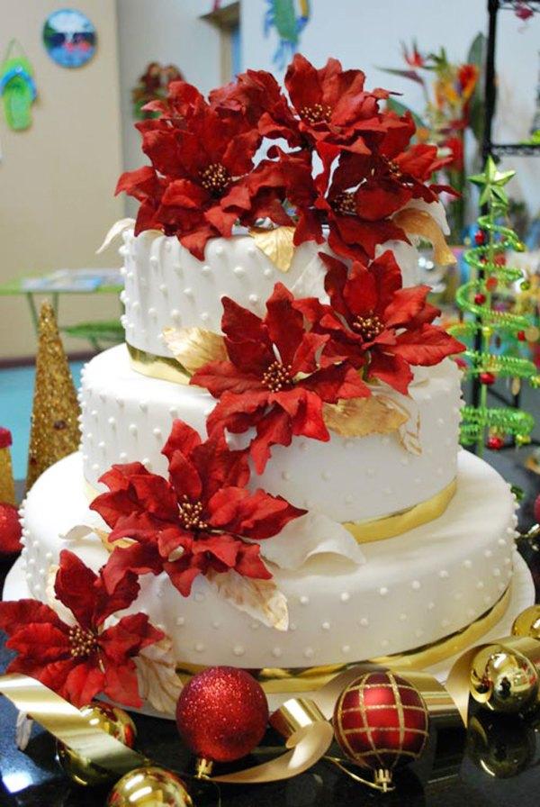 Christmas Wedding Cakes Ideas