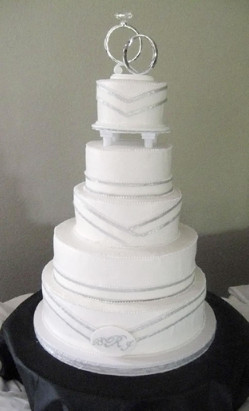 Simple Silver Wedding Cakes Wedding Cake