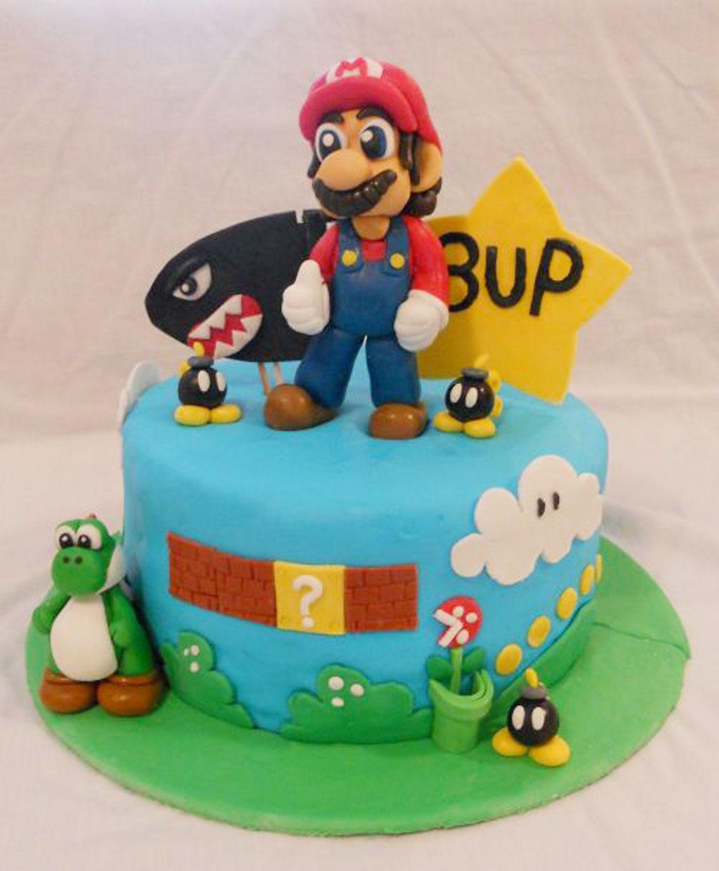 Super Mario Bros Birthday Cake Birthday Cake