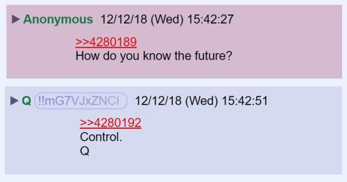how do you know the future qanon
